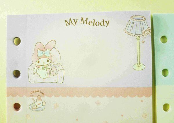 【震撼精品百貨】My Melody 美樂蒂~三切補充內頁-粉沙發