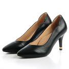 GREEN PINE 古典氣質高跟鞋-黑...