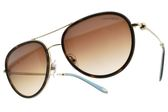 Tiffany&CO.太陽眼鏡 TF3059 60913B (棕金-漸層棕鏡片) 率性優雅飛官款 墨鏡 # 金橘眼鏡