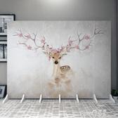 屏風隔斷客廳北歐式現代簡約折疊可行動臥室遮擋家用實木牆辦公室  (pink Q時尚女裝)