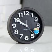 鬧鐘靜音創意學生時尚個性兒童床頭鐘錶夜光數字小座鐘現代簡約