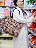購物袋 大容量折疊購物袋 超市買菜環保布袋子 媽媽旅行手提防水帆布包女