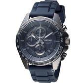 精工SEIKO三眼競速計時腕錶 8T67-00H0SD  SSB327P1