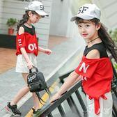 女童短袖T恤洋氣夏裝兒2019新款韓版中大童時尚上衣 FR9540『男人範』