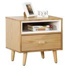 【森可家居】小日子床頭櫃 10JX333-5 床邊櫃 木紋質感 無印北歐風 MIT台灣製造
