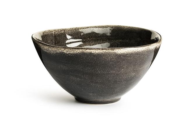 瑞典sagaform Nature釉彩沙拉碗-深灰