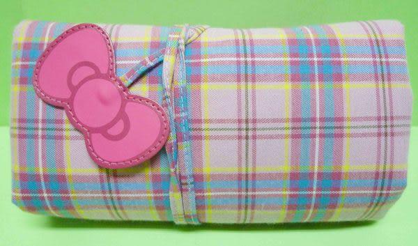 【震撼精品百貨】Hello Kitty 凱蒂貓~可收納環保手提袋『35周年蘇格蘭格紋』