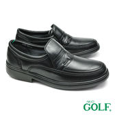 【GOLF】手工氣墊紳士休閒鞋 黑色(GF1055-BL)