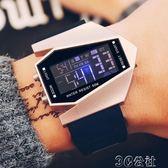 防水電子錶 創意LED飛機錶 男士防水手錶男個性創意電子錶學生復古 3C公社