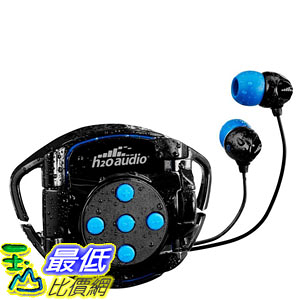 [107美國直購] 游泳耳機 H2O Audio Swim Solution Interval (INT4-BK-SG8)