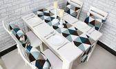 精品簡約幾何餐桌桌旗現代簡歐餐墊 時尚布藝茶幾床旗床尾巾定做    提拉米蘇