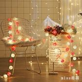 220v 藤球星星led彩燈閃燈串燈滿天星宿舍少女心裝飾房間燈 js16328『miss洛羽』