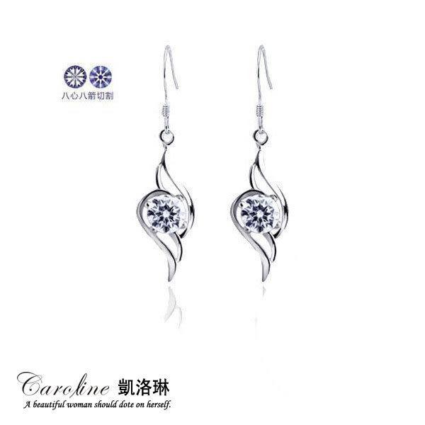 《Caroline》★【天使之羽】浪漫風格,優雅性感水晶時尚耳環66125