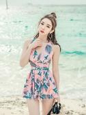 游泳衣女2019新款連體韓國ins風遮肚顯瘦性感保守大碼溫泉泳裝