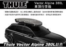  MyRack   【預購95折】Thule Vector Alpine 380L 鈦色 車頂行李箱 雙開 613500