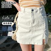 LULUS特價【A05200053】K單側開叉內襯褲短裙/牛仔裙S-L4色