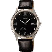 ORIENT 東方錶 DRESS 優雅羅馬晶鑽女錶-黑/36mm FUNF8005B