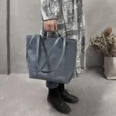 真皮手提包-牛皮肩背簡約大容量女托特包2色73yq33[時尚巴黎]