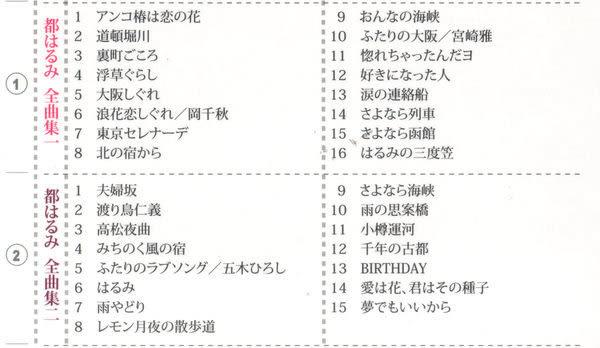 日本演歌巨星五 都春美 島津亞矢 全曲集 CD 4片裝 (購潮8)
