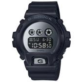 【CASIO】 G-SHOCK Tough 金屬質感鏡面電子錶-黑X銀(DW-6900MMA-1)