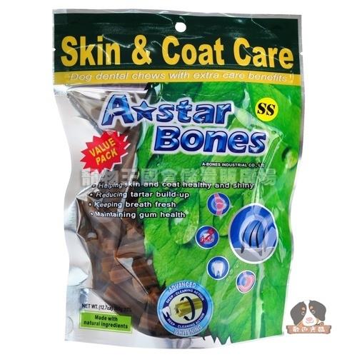 【寵物王國】美國A-star Bones空心六星棒(健膚亮毛)240g