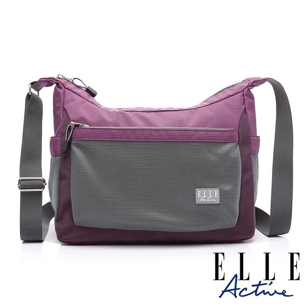 Backbager 背包族 【ELLE Active】Fish Net 漁網系列 彎月 側背包/斜背包-大(紫色)