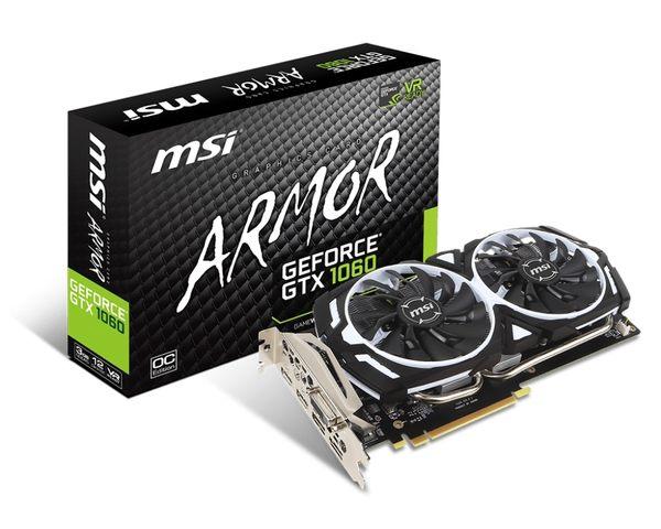 微星 GeForce GTX 1060 ARMOR 3G OCV1   顯示卡