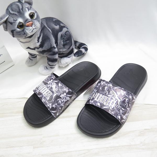 PUMA POPCAT 20 WNS UNTAMED 海綿拖鞋 37510701 女款 蛇紋黑【iSport愛運動】