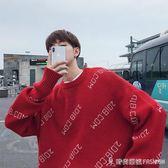 韓版毛衣男秋冬寬鬆情侶針織衫字母ins青少年學生線衫 時尚潮流