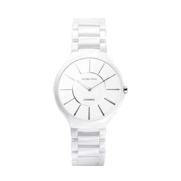 【Relax Time】超薄簡約時尚陶瓷腕錶-雪花白(小)/RT-33-3L/台灣總代理公司貨享一年保固