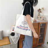 帆布袋 創意 字母 帆布包 手提袋 環保購物袋--手提/單肩【SPA189】 icoca  07/19