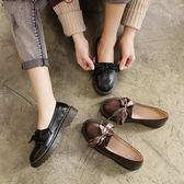 牛津鞋/紳士鞋 平底小皮鞋原宿百搭單鞋英倫復古牛津鞋正韓學院軟妹女鞋 韓先生