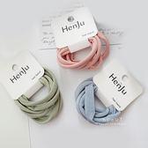 韓系灰色調布藝髮圈 5入組 髮飾 髮圈 髮繩 頭飾