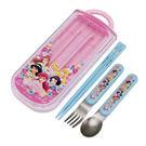 ★funbox生活用品★迪士尼公主系列  - 三用餐具組〈藍色〉_AT16434
