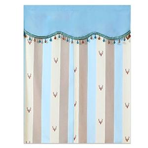 【新作部屋】北歐風簡約質感門簾(85*90公分)藍咖條紋