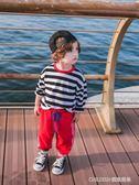 儿童打底衫 寶寶秋裝男小童打底衫童裝男童長袖T恤潮男寶寶兒童T恤上衣條紋 童趣潮品