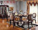 【大熊傢俱】RE832 新古典圓餐台 鄉村風 功能型餐桌 餐椅 靠背椅  歐式餐台 圓桌 餐桌 轉盤餐桌