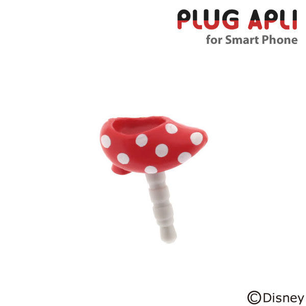 ❤Hamee 迪士尼 Disney PLUG APLI 香噴噴靴子系列 3.5mm 耳機塞 (米妮) [19-197271]
