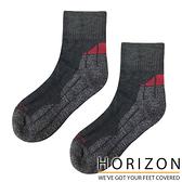 【HORIZON】MERINO QUARTER 美麗諾羊毛襪 HO-2224『灰黑/灰/酒紅』戶外 露營 休閒 保暖襪 羊毛