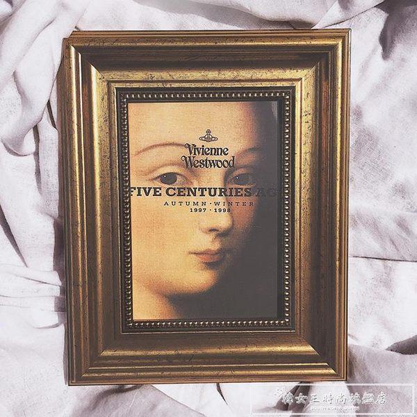 獨家畫框vivienne westwood維維安藝術家裝飾著名油畫擺臺7寸相框igo『韓女王』
