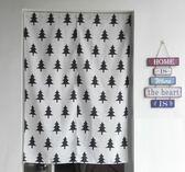 可愛時尚棉麻門簾240 廚房半簾 咖啡簾 窗幔簾 穿杆簾 風水簾 (100寬*180cm高)