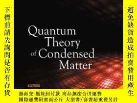 二手書博民逛書店Quantum罕見Theory Of Condensed Mat