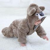 造型衣嬰兒春秋寶寶衣服0-1歲新生兒童爬服法蘭絨小熊卡通哈衣秋 Ic2928【每日三C】