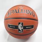 SPALDING 17 銀色NBA RUBBER 七號籃球 SPA83494 橘【iSport愛運動】
