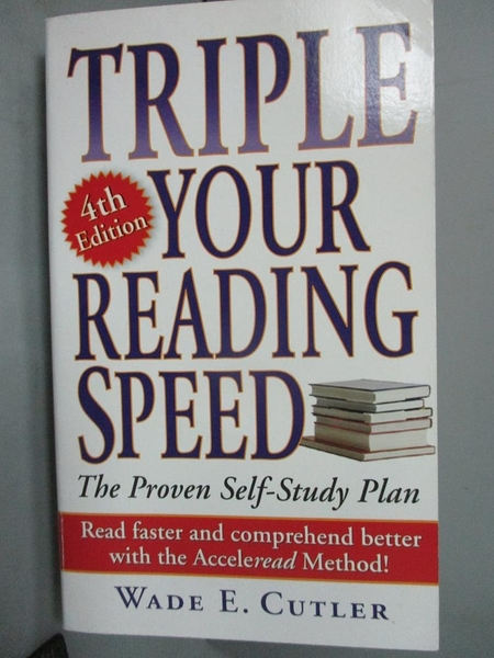【書寶二手書T8/財經企管_HKN】Triple Your Reading Speed_Cutler, Wade E.