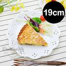 日本製花邊陶瓷圓盤簡餐盤19cm白可微波060167通販屋