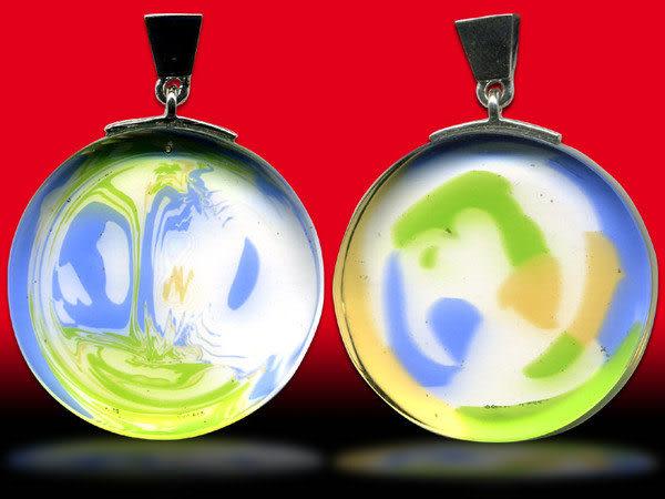 鹿港窯~開運古法水晶琉璃銀飾項鍊~圓滿◆ 附精美包裝◆免運費送到家