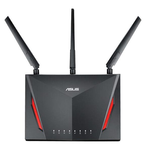 路由器華碩RT-AC86U光纖雙頻無線AC2900M千兆家用wifi穿墻國行 法布蕾輕時尚igo