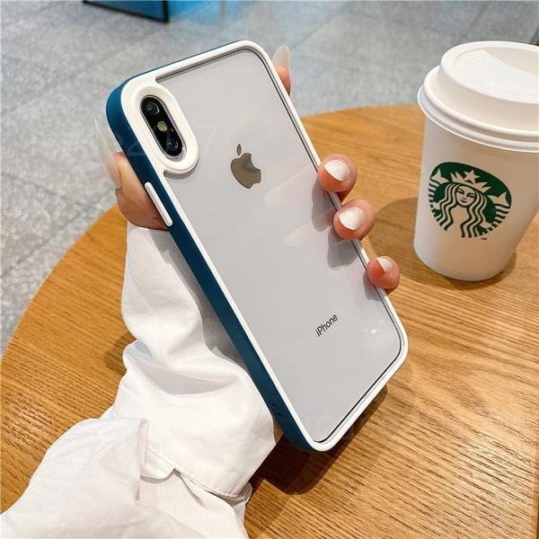 透明雙色邊框殼 iPhone 12 mini iPhone 12 11 pro Max 手機殼 撞色防摔 四角防撞 保護殼保護套 矽膠軟殼