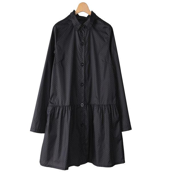 日本女士时尚腰部抽带款外套雨衣雨披 - f71001(M)
